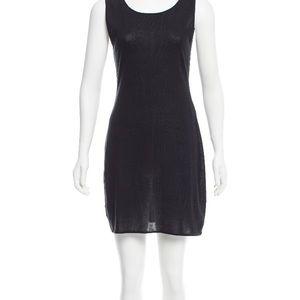 Authentic Chanel black sleeveless mini dress